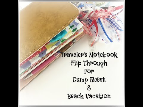 Traveler's Notebook Set up for Camp Reset and Beach Vacation