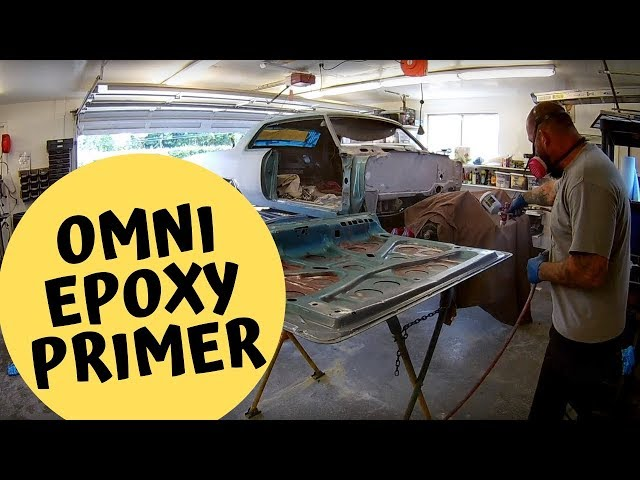 Omni Epoxy primer on the trunk lid, hood and door