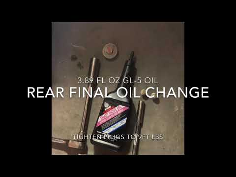 Honda Talon Front & Rear Final Differential Oil Change. 1000R 1000X. Change Every 1800 Miles