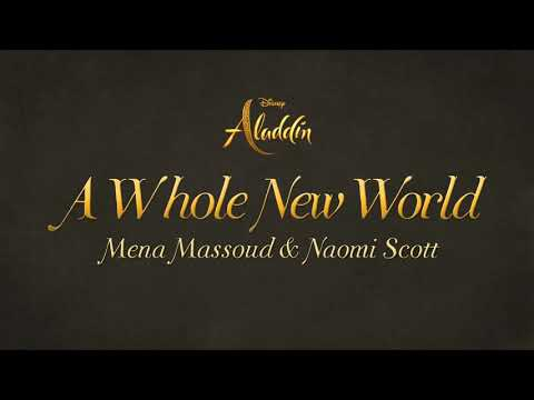 Mena Massoud, Naomi Scott - A Whole New World(Lyrics) (From Aladdin)