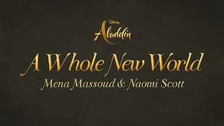 "Mena Massoud, Naomi Scott - A Whole New World(Lyrics) (From ""Aladdin"")"