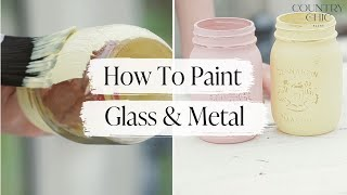 How To Paint Glass and Metal, and the Best Way to Distress | Tricky Surface Painting Tutorial