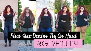 Affordable Plus Size Denim Try On Haul & Giveaway