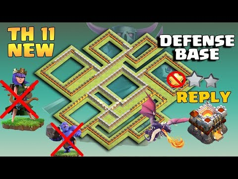 TH 11 MOST SECRET DEFENSIVE BASE WITH REPLY / ANTI 0 STAR/ ANTI 1 STAR / ANTI 2 STAR CLASH OF CLANS
