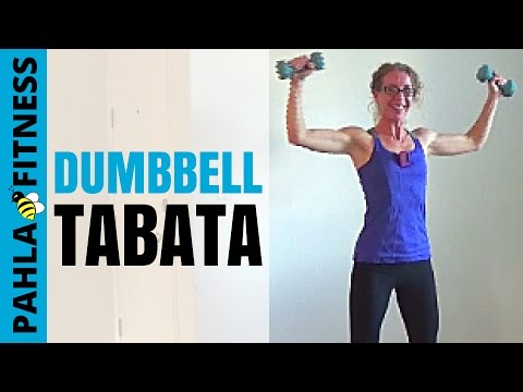 20 Minute Follow Along Dumbbell Tabata - Cardio and Strength Training in Your Living Room Travel Video