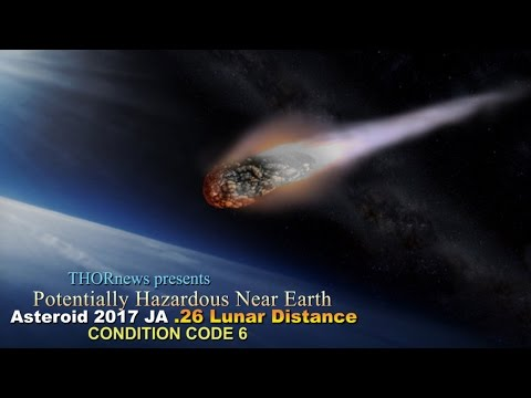 Potentially Killer Asteroid could strike Earth TODAY! .26 Lunar Distance 2017 JA