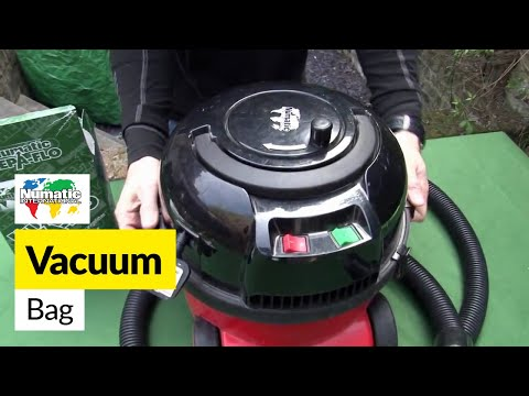 How to replace Henry bags in a Numatic Henry vacuum cleaner
