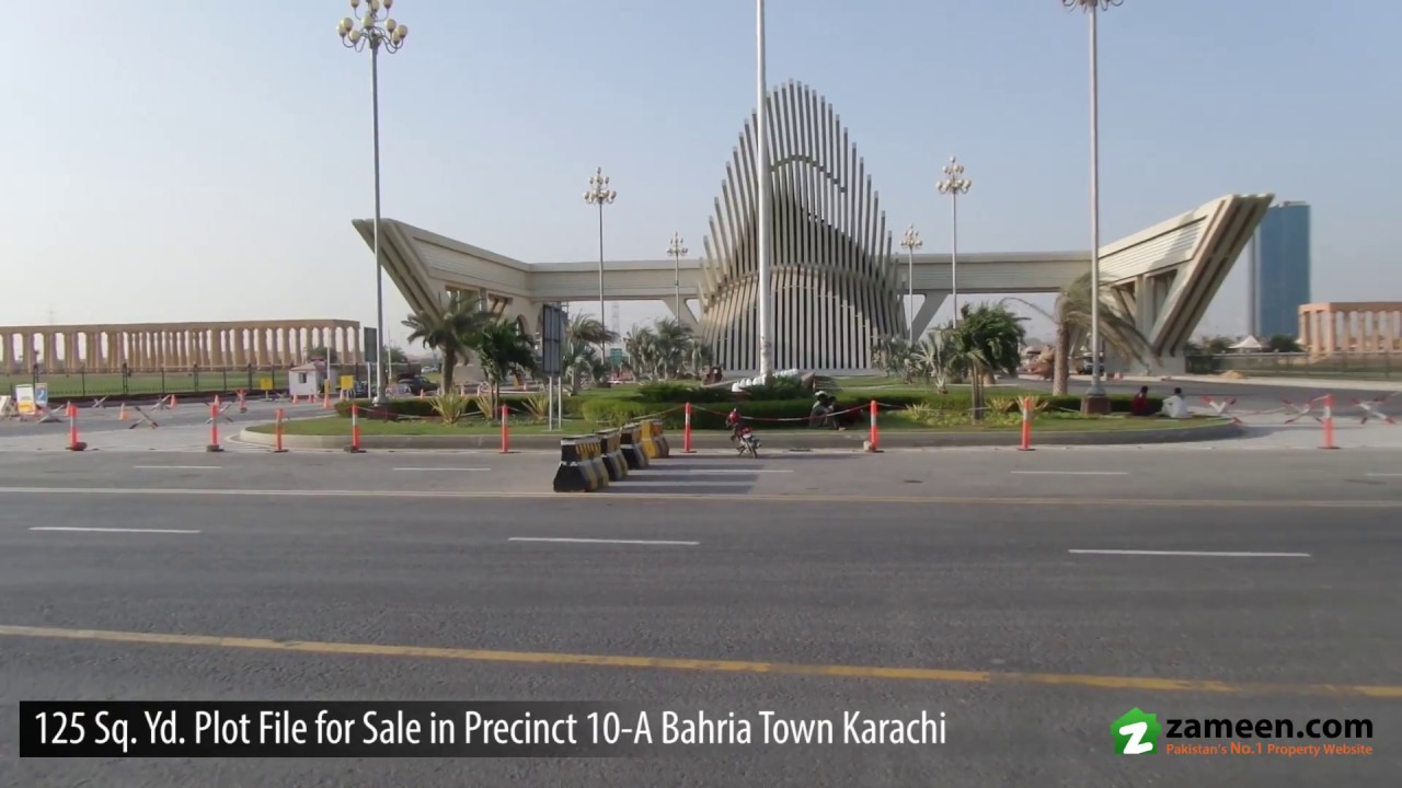 BAHRIA TOWN KARACHI - PRECINCT 10-A - 125 SQUARE YARD OLD COMMERCIAL PLOT  FILE FOR SALE
