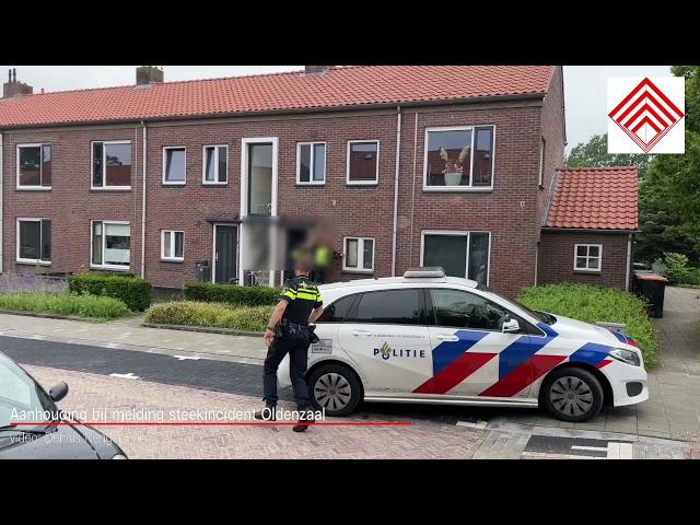 Aanhouding bij melding steekincident Oldenzaal