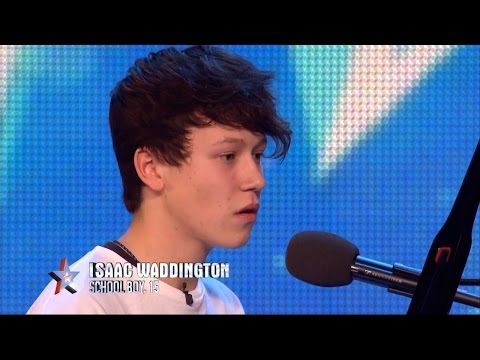 Britain's Got Talent 2015 S09E03 Isaac Waddington Sings Heartfelt Rendition Of She's Always A Woman