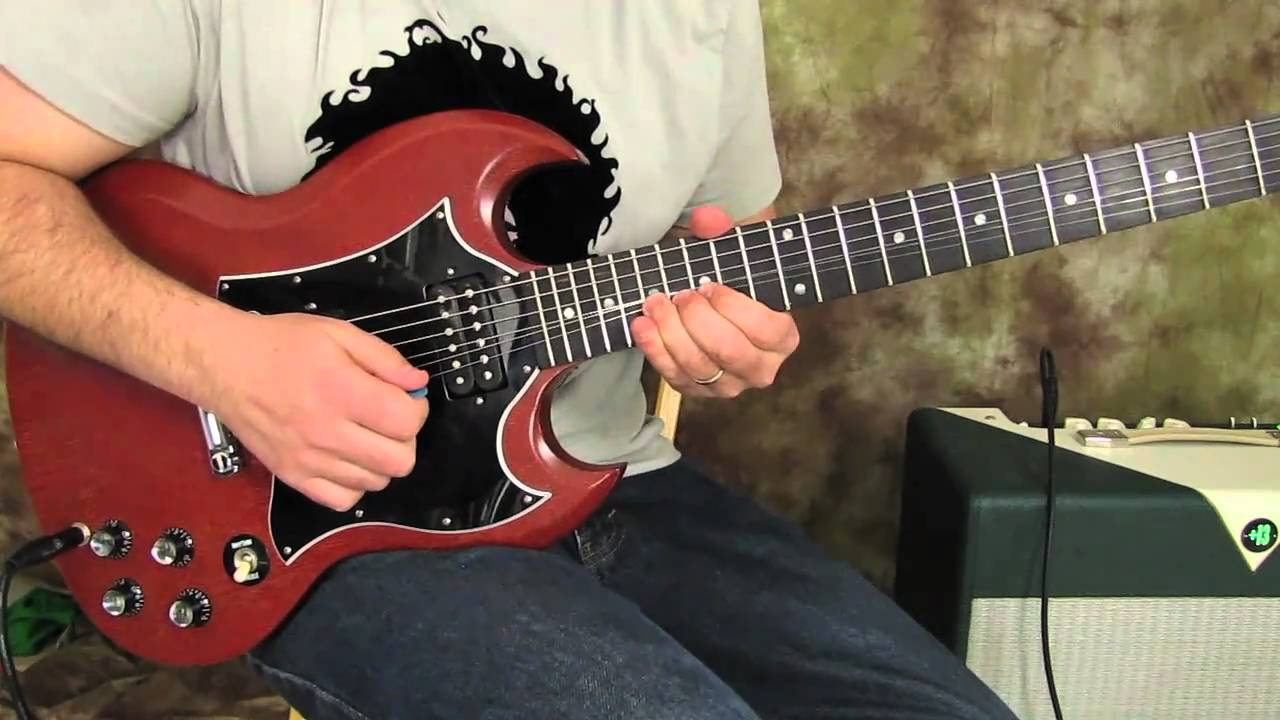 electric guitar lesson gibson sg guitar tutorial how to play youtube. Black Bedroom Furniture Sets. Home Design Ideas