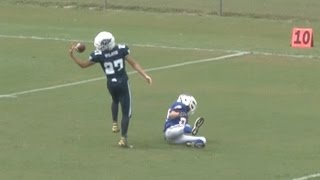 Incredible behind-the-back juggling touchdown catch - youth football highlights
