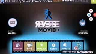 Como usar o reverse movie FX