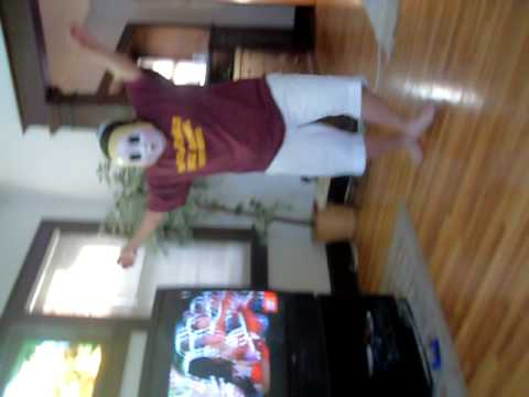 "girl in ""the strangers"" mask dancing she has the dollface mask"
