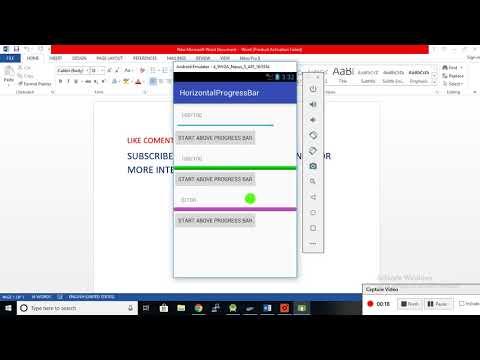 Android Horizontal Progress Bar With Percentage Programmatically