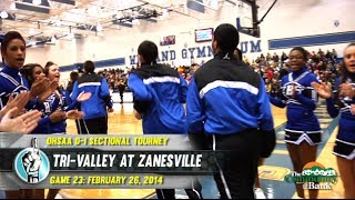 HS Boys Basketball: Tri-Valley at Zanesville [TOURNAMENT] (2/26/14)