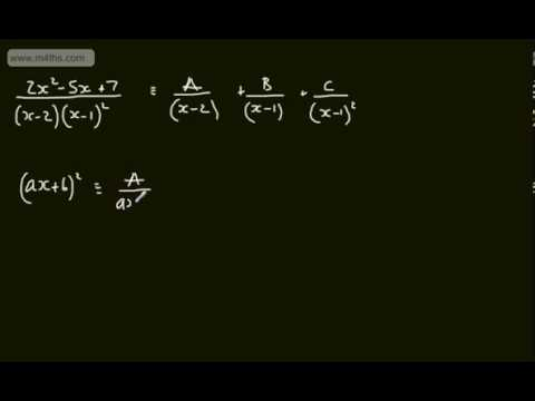 Core 4 - Partial Fractions (1) Introduction and basic concept - A2 A Level Maths