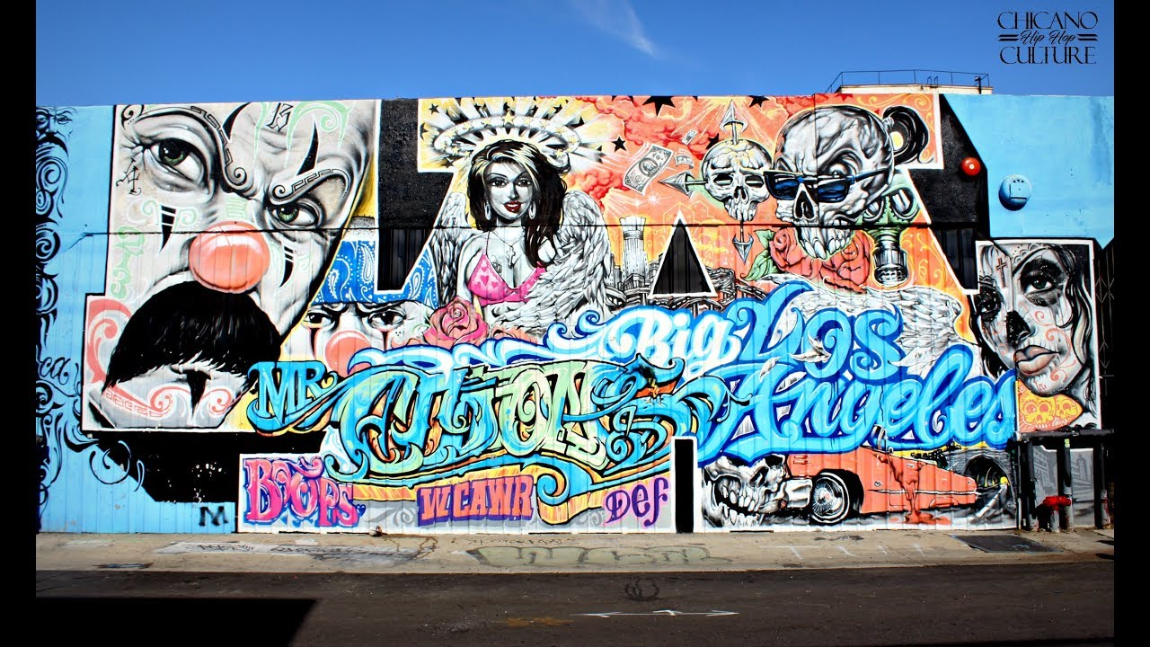 Arte Chicano Murals Mister Cartoon Arts District L A