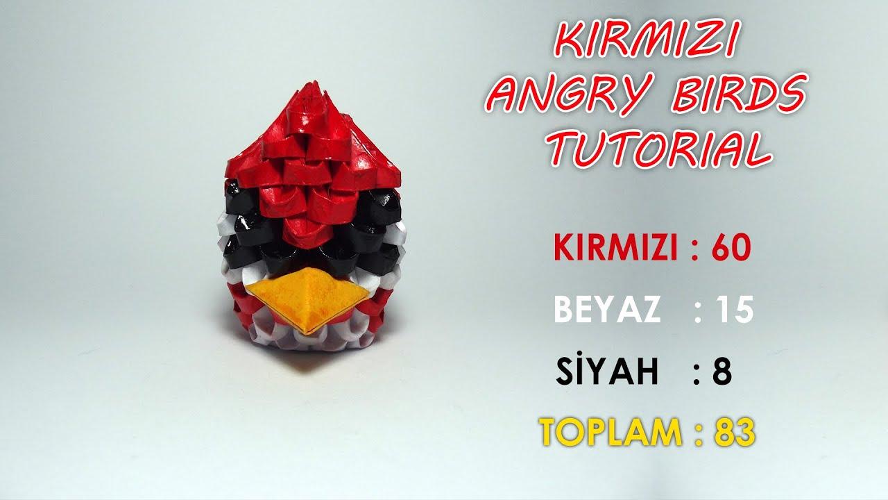 3D Origami Kırmızı Angry Birds Yapımı (Red Angry Birds ... - photo#35