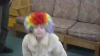 Naya, clown wig at office 01.mp4