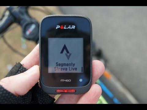 Strava Live Segments - w liczniku rowerowym Polar M460