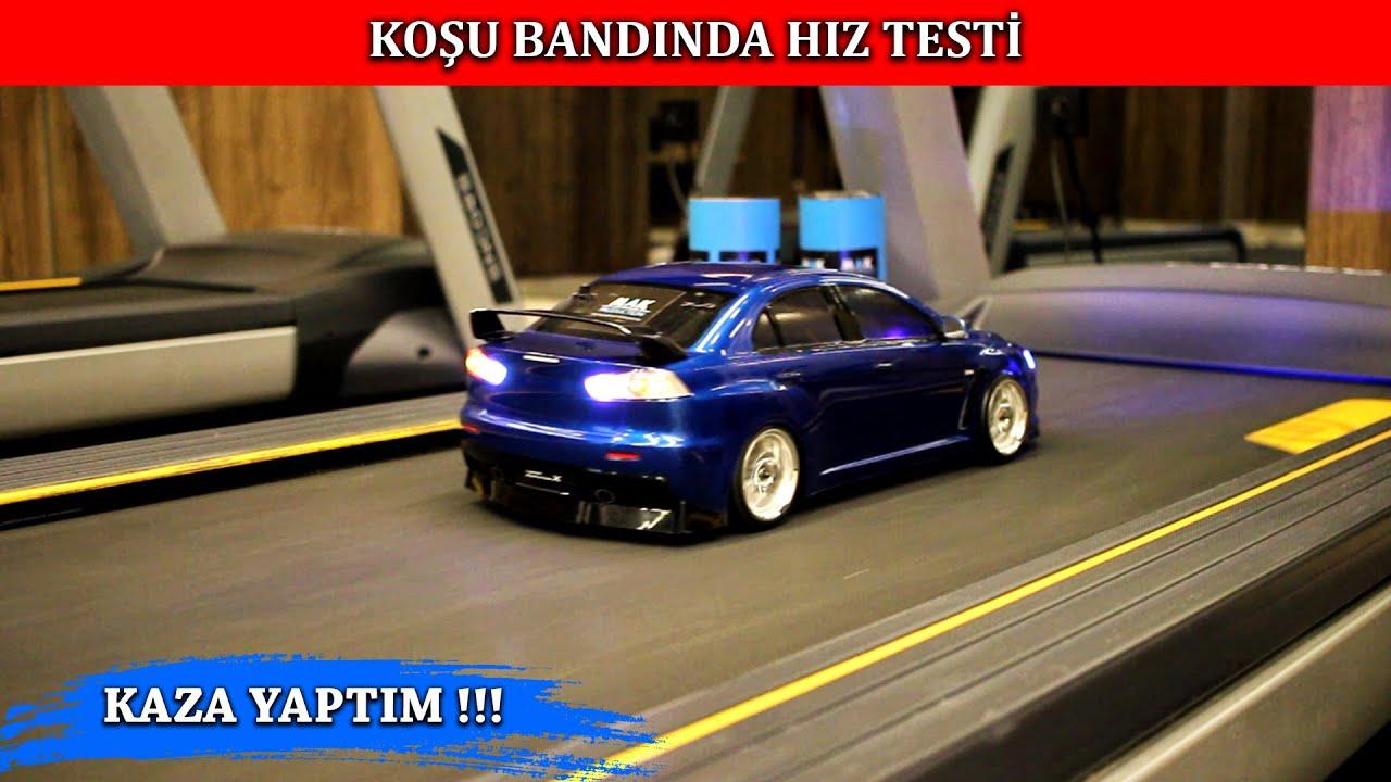 RC ARABA İLE KOŞU BANDINDA HIZ TESTİ ! (imitation drag race)