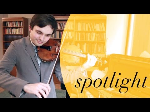 Student Spotlight: Francisco Garcia Fullana relishes two priceless violins