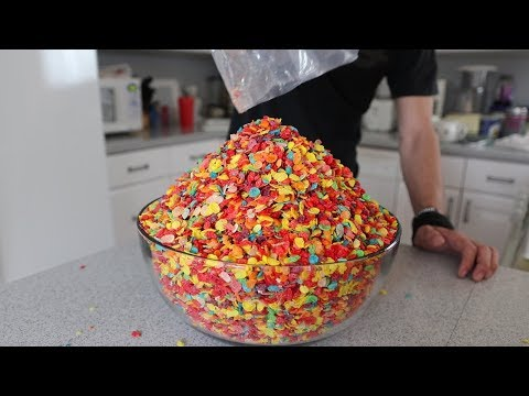 MASSIVE Bowl of Fruity Pebbles!! (Challenge)