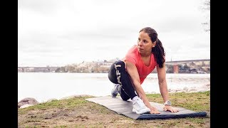 CHARLOTTE KALLAS 3 WARM UP STRETCHES FOR RUNNERS