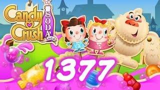 Candy Crush Soda Saga Level 1377 - No Boosters