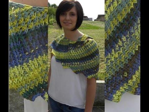 Tunesisch Häkeln Drachenschal Mailand Woolly Hugs 08 Veronika