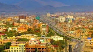 Kabul, Stadt in Afghanistan, schöne Gebäude, vor dem 7.5 Erdbeben getroffen.