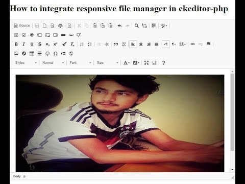 How to integrate responsive filemanager in ckeditor-php