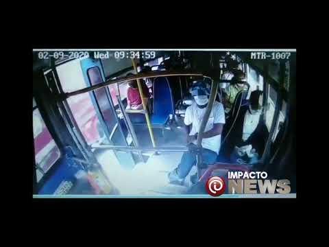 Atracador hirió con puñal a conductor de bus y a un pasajero.