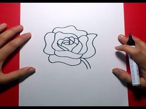 Como dibujar una rosa paso a paso 4 | How to draw a rose 4 - YouTube