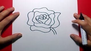 Como dibujar una rosa paso a paso 4 | How to draw a rose 4