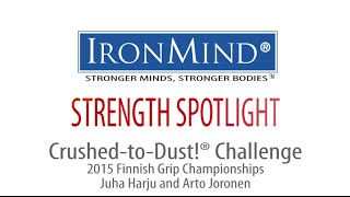 IronMind Crushed-to-Dust Challenge - 2015 Finnish Grip Championships