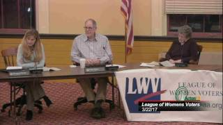 League of Women Voters Warrant Issues Forum 3/22/17