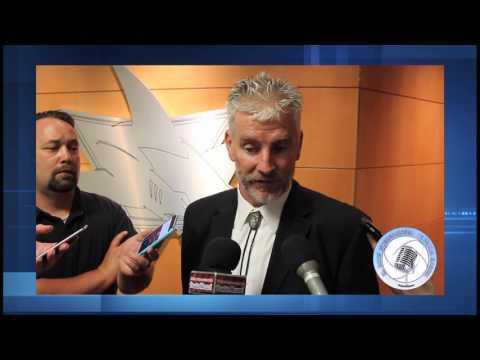 San Jose Barracuda vs Grand Rapids Griffins Game 2 post game interviews Calders Cup Playoffs 2017