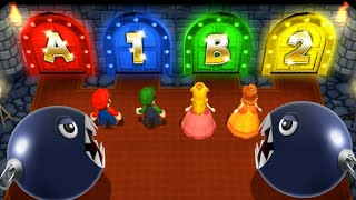 Mario Party 9 MiniGames - Peach Vs Mario Vs Daisy Vs Luigi (Master Cpu)