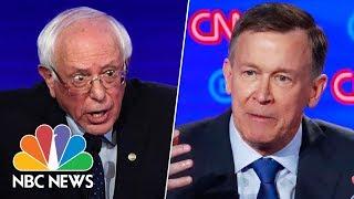 'Throw Your Hands Up!' Hickenlooper Mocks Sanders' Trademark Idiosyncrasy | NBC News