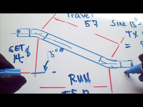 Pipefitter Job How to Find Length of Sides When the Angle is Known Set Run Travel