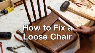 How to Repair Wooden Chair Joints