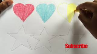 How to Draw Heart And Star   Heart and Star Coloring Pages   10 Coloring Pages
