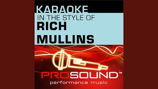 Awesome God (Karaoke Instrumental Track) (In the style of Rich Mullins)