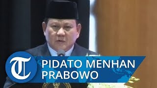 Pidato Lengkap Prabowo Subianto Jadi Menhan: Hati Pak Ryamizard Dibelah yang Keluar Merah Putih