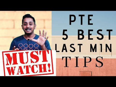 PTE TIPS : 5 BEST LAST MINUTE TIPS for a 90 overall
