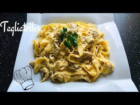 tagliatelles-au-poulet-sauce-crÈme-parmesan-et-champignons