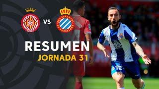 Resumen de Girona FC vs RCD Espanyol (1-2)