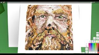 drawing gimli in roblox pixel art creator